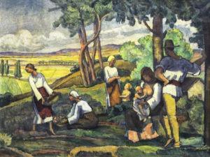 6. Camil Ressu, La cules, 1920-1922, 46×61 cm, ulei pe pânză, Colecția BCR